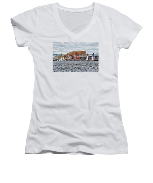 Extreme 40 At Cardiff Bay Women's V-Neck T-Shirt (Junior Cut) by Steve Purnell