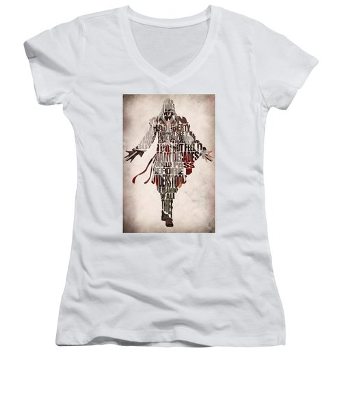 Ezio Auditore Da Firenze From Assassin's Creed 2  Women's V-Neck T-Shirt