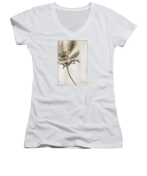 Women's V-Neck T-Shirt (Junior Cut) featuring the photograph Faded Memory by Caitlyn  Grasso