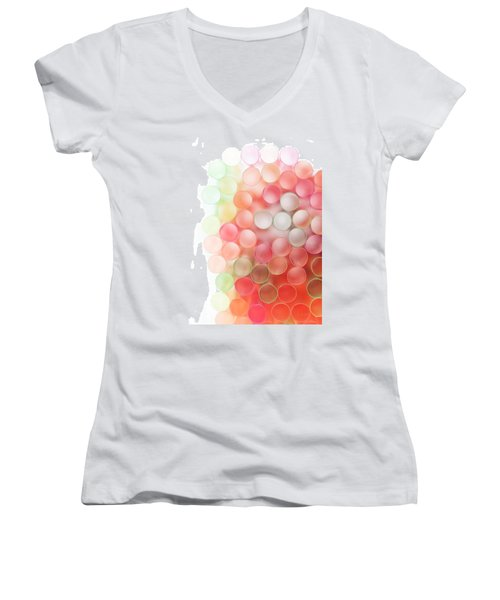 Fading Out Women's V-Neck T-Shirt (Junior Cut) by Fran Riley