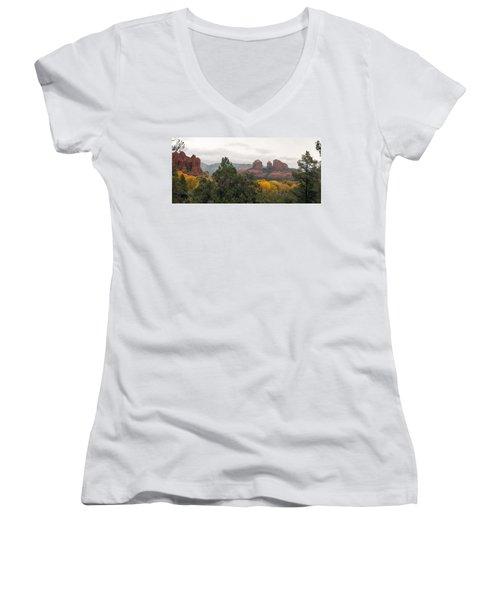 Fall Color Sedona 0495 Women's V-Neck T-Shirt