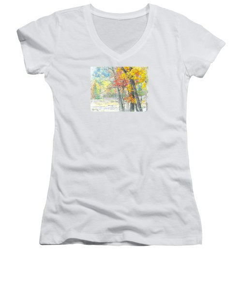 Fall Dreams Women's V-Neck (Athletic Fit)