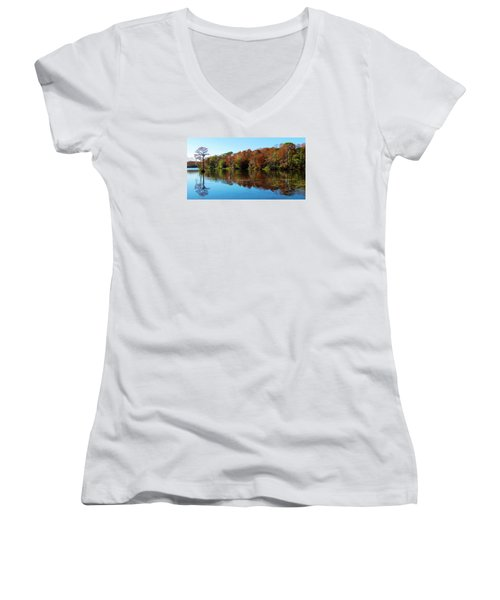 Fall In The Air Women's V-Neck T-Shirt