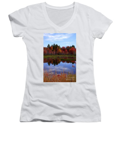Fall Reflections Women's V-Neck (Athletic Fit)