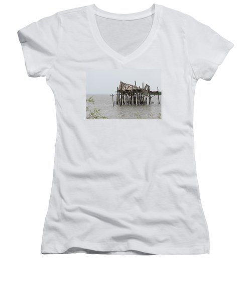 Fallen Deckhouse Women's V-Neck T-Shirt