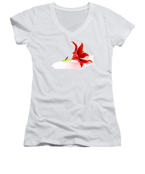 Fallen Tiger Lily Women's V-Neck
