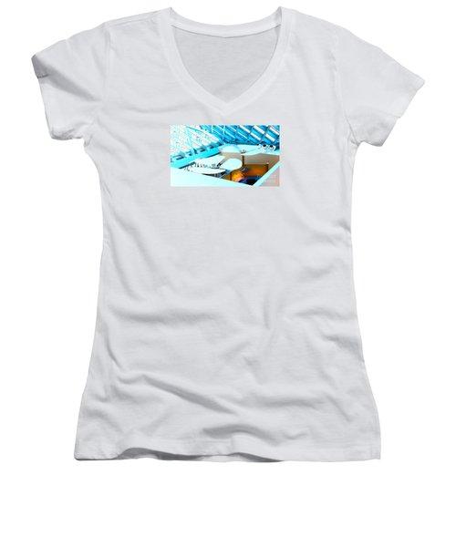 Fans From The Floor Women's V-Neck T-Shirt