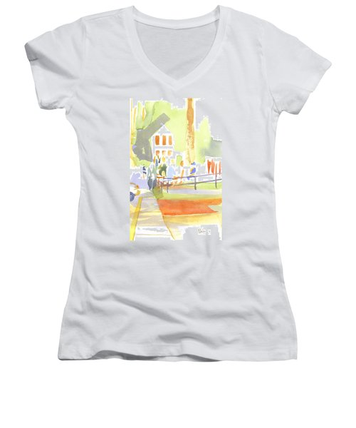 Farmers Market II  Women's V-Neck (Athletic Fit)