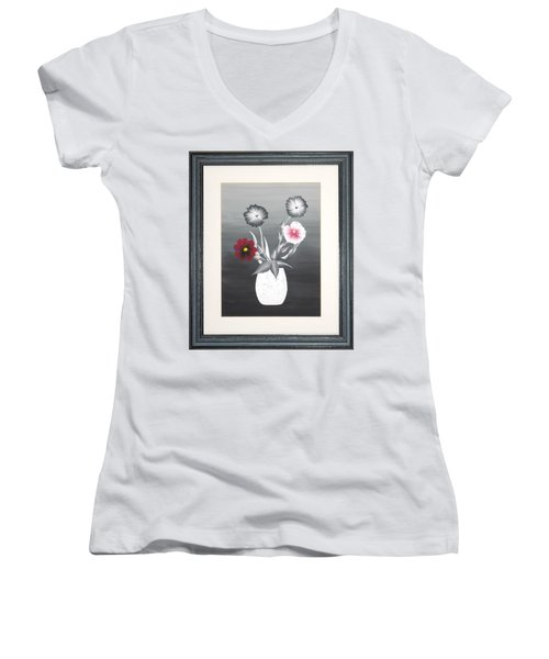 Faux Flowers II Women's V-Neck T-Shirt