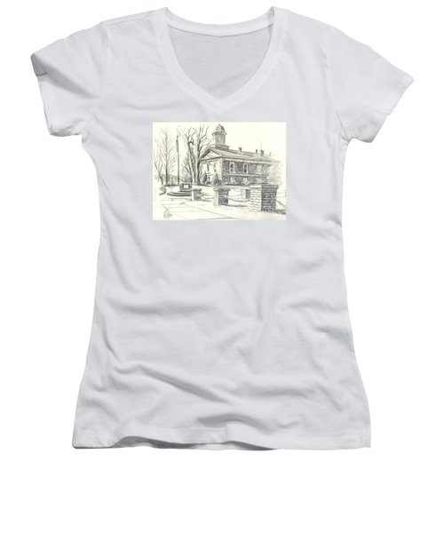 February Morning  No Ctc102 Women's V-Neck