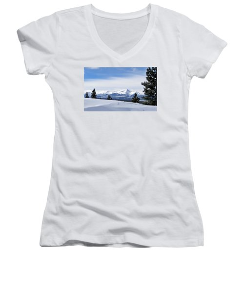 February Wind Women's V-Neck T-Shirt