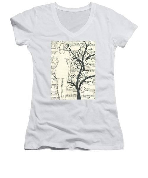 Feeling One With Nature Women's V-Neck