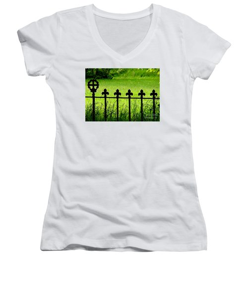 Fence And Cross Women's V-Neck