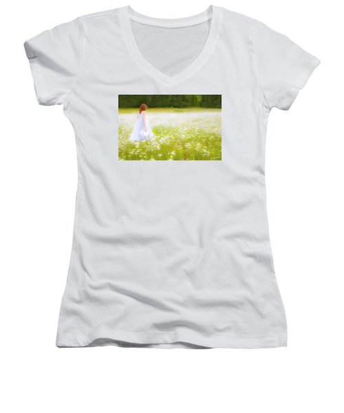 Field Of Dreams Women's V-Neck (Athletic Fit)