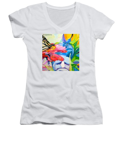 Fiji Dreams - Original Watercolor Painting Women's V-Neck