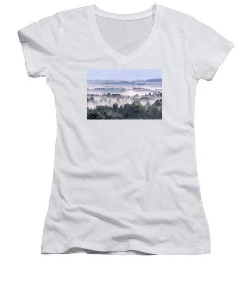 Finger Lakes Morning Women's V-Neck T-Shirt