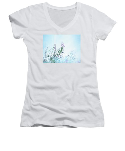 Fireweed Number Two Women's V-Neck T-Shirt (Junior Cut) by Brian Boyle
