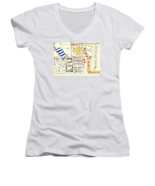 First Abstract Women's V-Neck T-Shirt