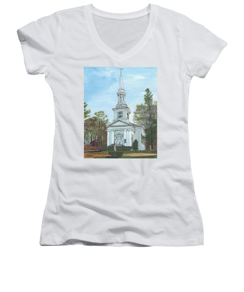 First Church Sandwich Ma Women's V-Neck (Athletic Fit)
