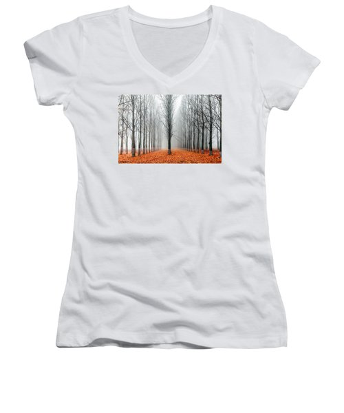 First In The Line Women's V-Neck
