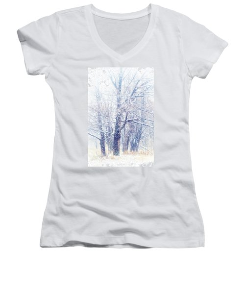 First Snow. Dreamy Wonderland Women's V-Neck