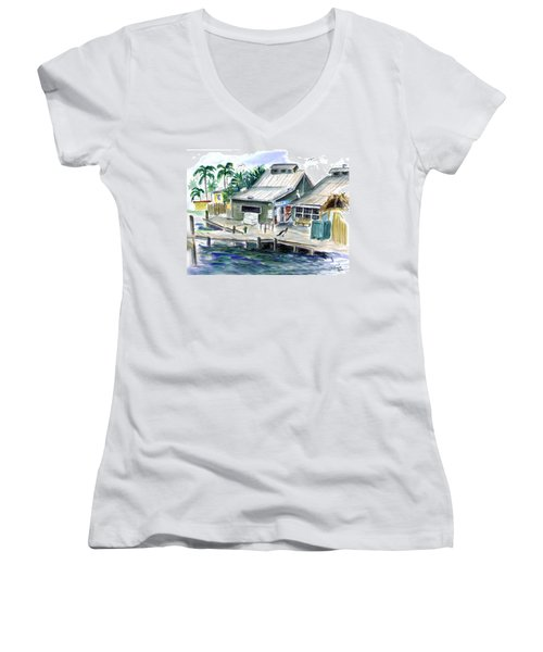 Fish House Women's V-Neck T-Shirt (Junior Cut)