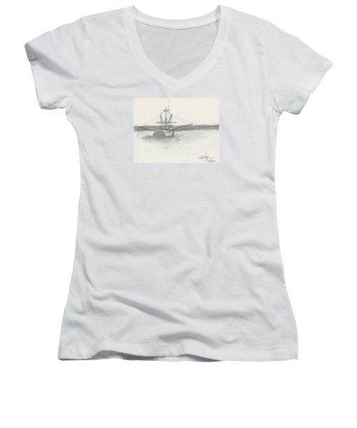 Fishing Boat Women's V-Neck T-Shirt