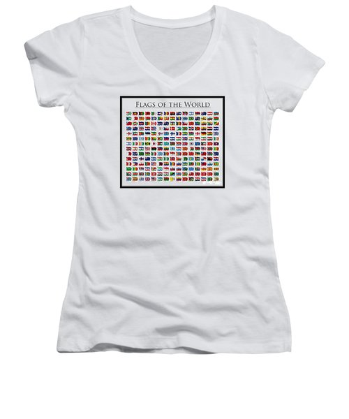 Flags Of The World Women's V-Neck (Athletic Fit)