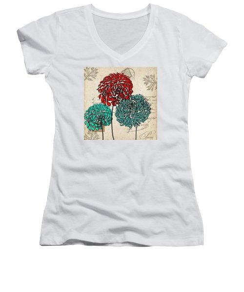 Floral Delight Iv Women's V-Neck