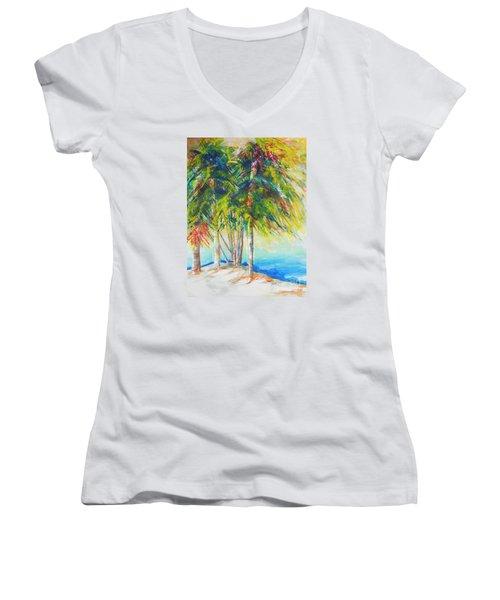 Florida Inspiration  Women's V-Neck (Athletic Fit)