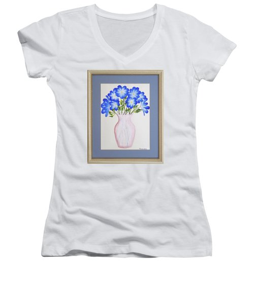 Flowers In A Vase Women's V-Neck T-Shirt