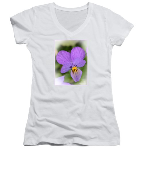 Women's V-Neck T-Shirt (Junior Cut) featuring the photograph Flowers That Smile by Kerri Farley