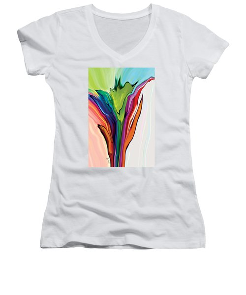 Flowery 5 Women's V-Neck T-Shirt