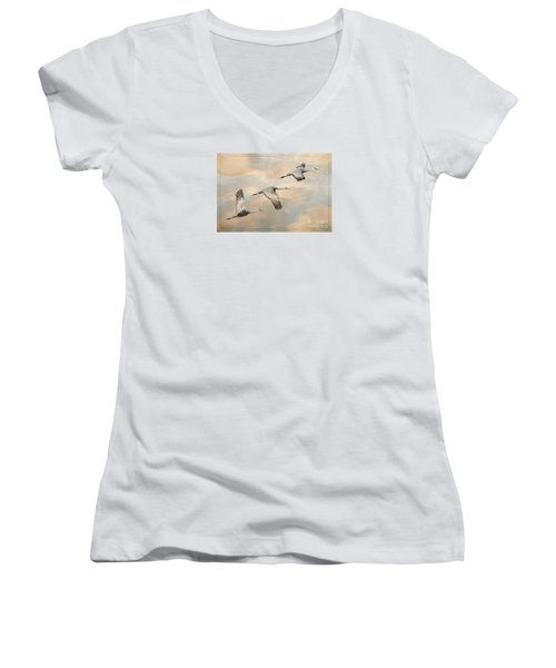 Fly Away Women's V-Neck T-Shirt