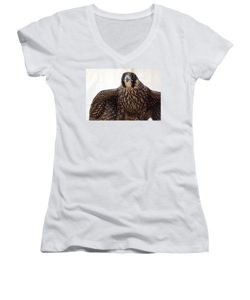 Focus Women's V-Neck T-Shirt (Junior Cut) by Richard Faulkner