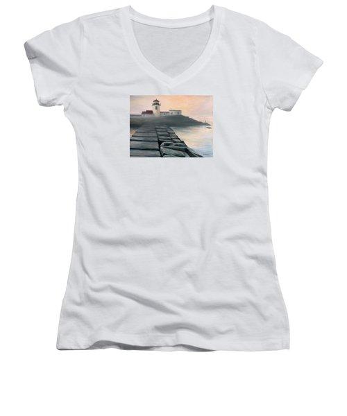 Fog Burning Off Women's V-Neck T-Shirt