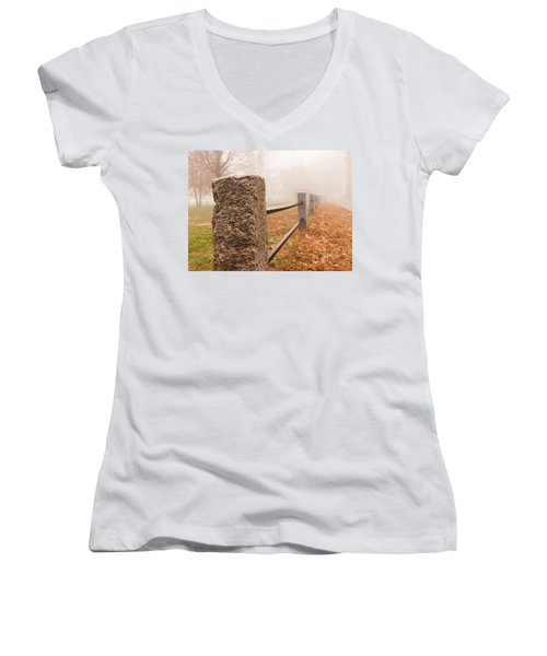 Foggy Morning In Ellington Women's V-Neck