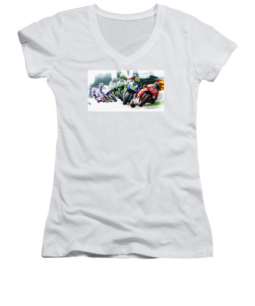 Follow The Leader Women's V-Neck (Athletic Fit)