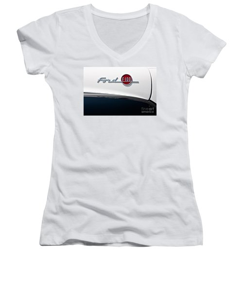 Ford F-100 Women's V-Neck (Athletic Fit)