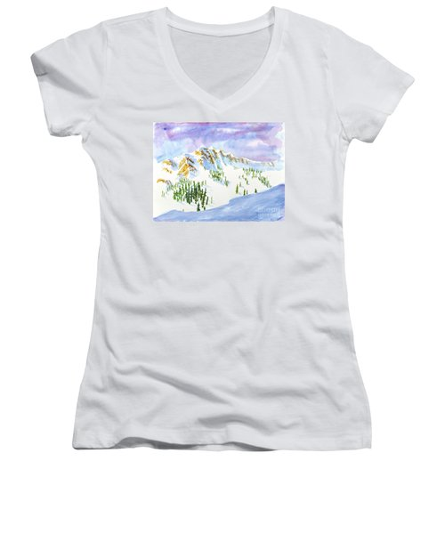 Four Sisters At Snowbasin Women's V-Neck (Athletic Fit)