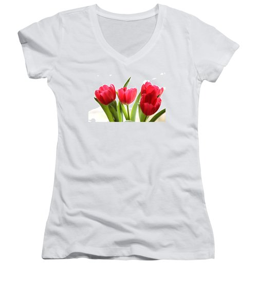Four Tulips Women's V-Neck (Athletic Fit)