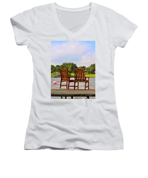 Fourth Of July Vacation Women's V-Neck (Athletic Fit)