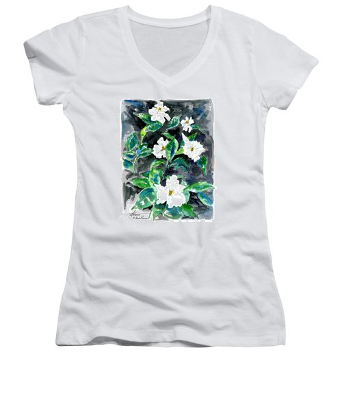 Fragrant Beauty  Women's V-Neck