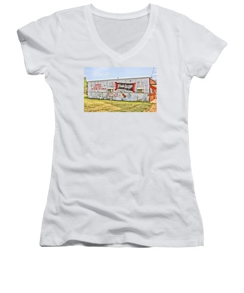 Fred's Lounge Women's V-Neck (Athletic Fit)