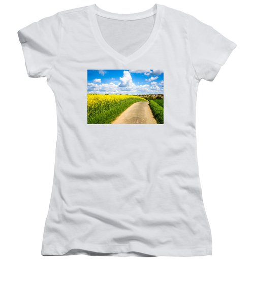 French Countryside Women's V-Neck T-Shirt