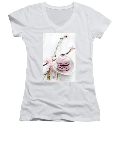 French Macaroons Women's V-Neck T-Shirt