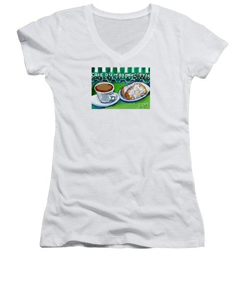 French Quarter Delight Women's V-Neck T-Shirt