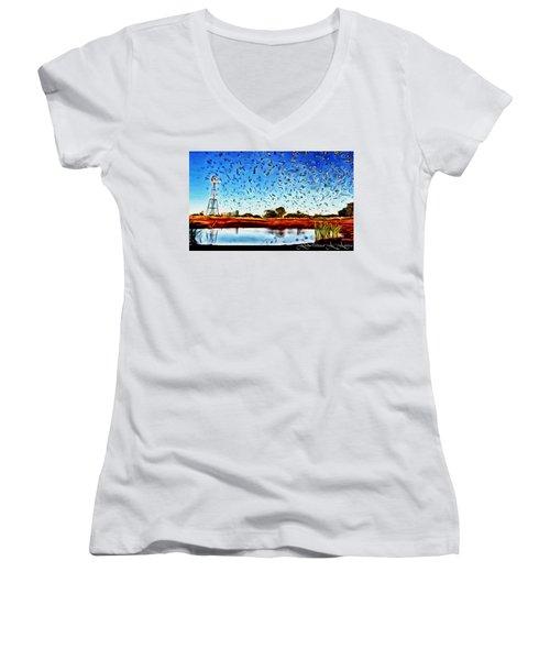 Fresh Mill Women's V-Neck T-Shirt