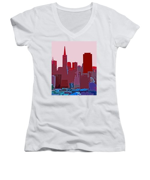 Frisco Skyline Women's V-Neck