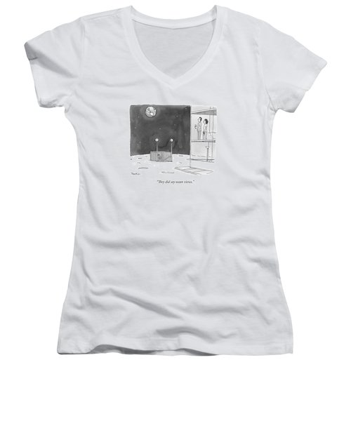 From An Apartment Window On The Moon Women's V-Neck